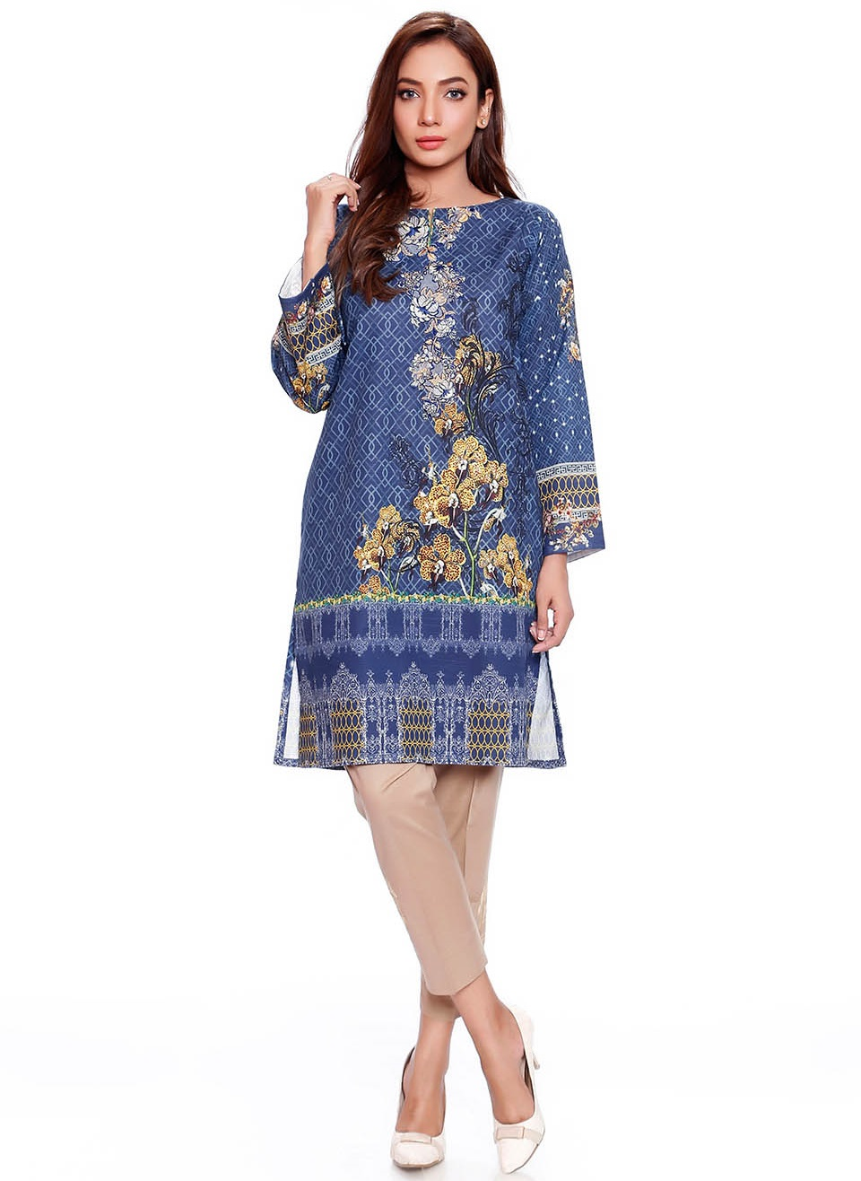 embroidered karandi single winter shirt by SK
