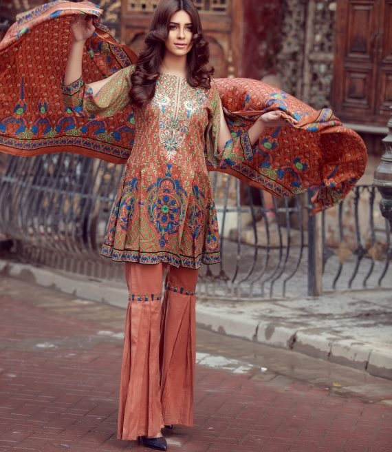 printed LIBAS winter dress 2017 design