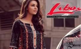 LIBAS Designer Embroidered Winter Suits 2017 Designs by Shariq Textiles