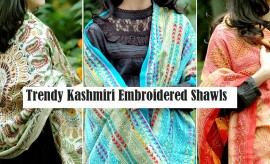 Designer Embroidered Kashmiri Winter Shawls Designs 2016-2017