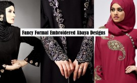 Fancy Party wear Formal Abaya Designs 2016-2017 Collection