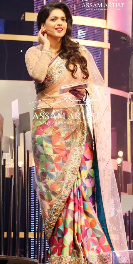 Sanam Jung in colorful Saree