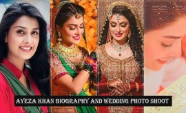 Ayeza Khan Biography, Complete Profile and Wedding Photo Shoot