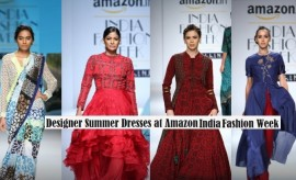 Indian Designer Summer Dresses 2016-2017 at Amazon India Fashion Week