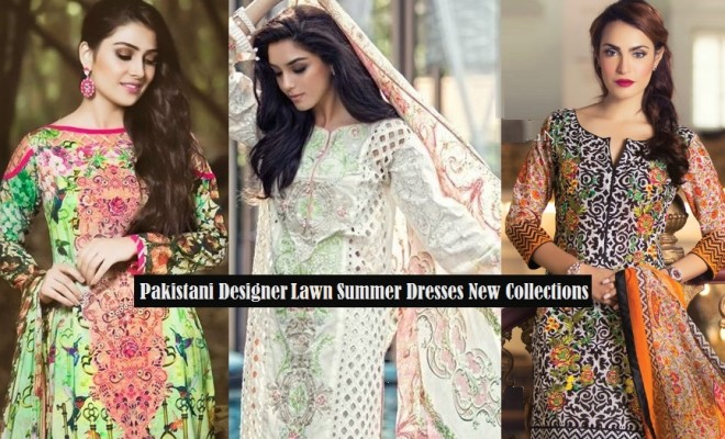 03ceb736716 Pakistani Designer Lawn Summer Suits 2018 designs