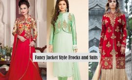 Indian Designer Fancy Embroidered Jacket Style Frocks and Shirts 2017 by Ishimaya