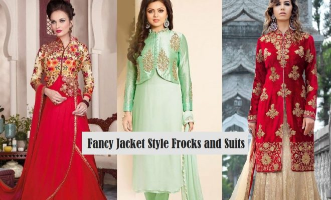 Indian Jacket Style Dresses and Jacket Style Frocks 2017-2018 Designs