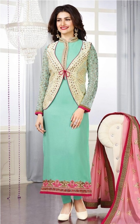 Indian Jacket Style Dresses And Jacket Style Frocks 2017 2018 Designs