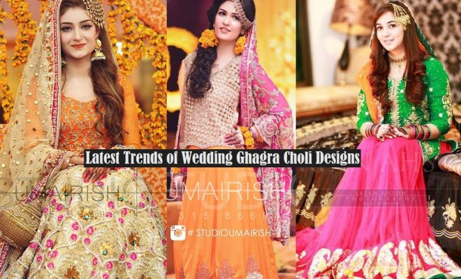 Mehndi Wedding Dresses 2016 : Bridal ghagra choli designs 2017 2018 exclusive collection