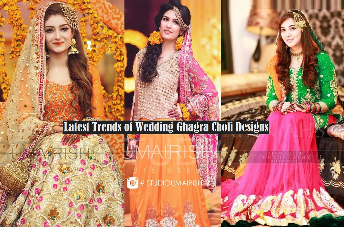 Mehndi Dress Designs 2016 New Style : Bridal ghagra choli designs 2017 2018 exclusive collection