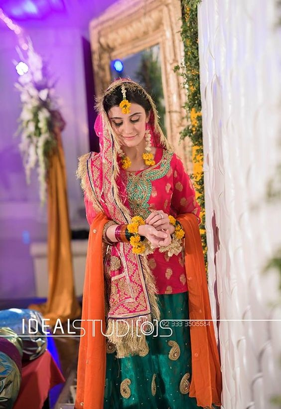 Wedding-Ghagra-Choli-Designs-for-Mehndi-Functions (4)