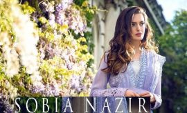 Sobia Nazir Fancy Net and Silk Eid Dresses 2016-2017 Look-Book