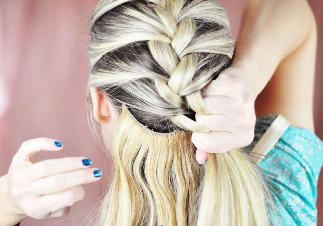 how to do french braid 19