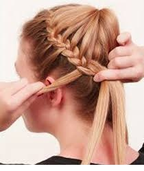 how to do french braid 20