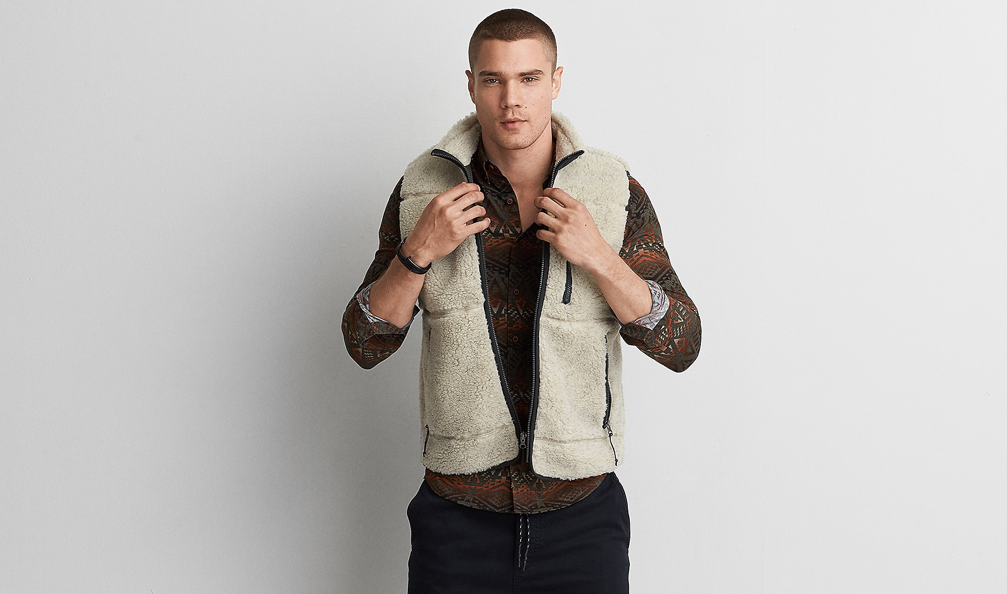 faux shepra vest by American eagle outfitters