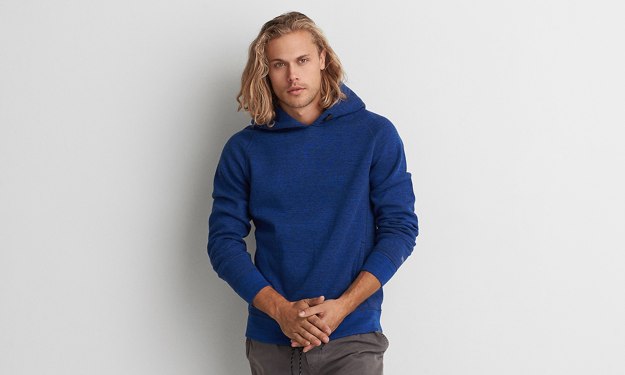 royal blue active flex hoodie for winter 2017 by American Eagle