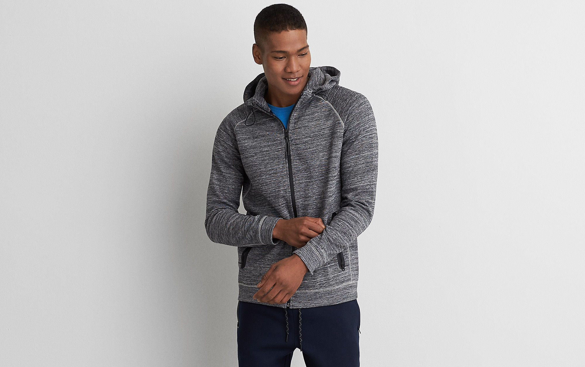 American eagle active flex full-zip hoodie for boys