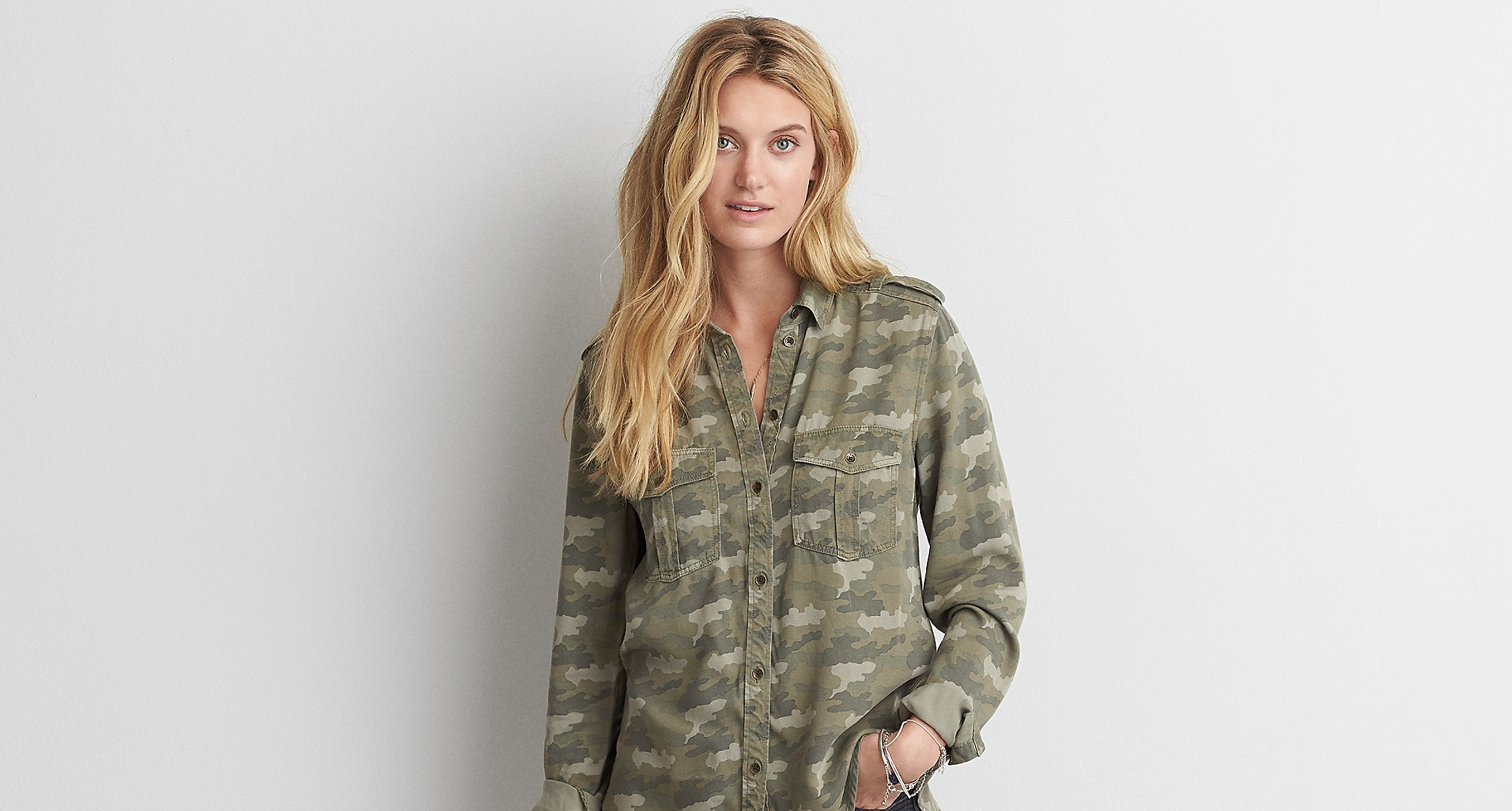 Aeo Camouflage Utility winter shirt for women