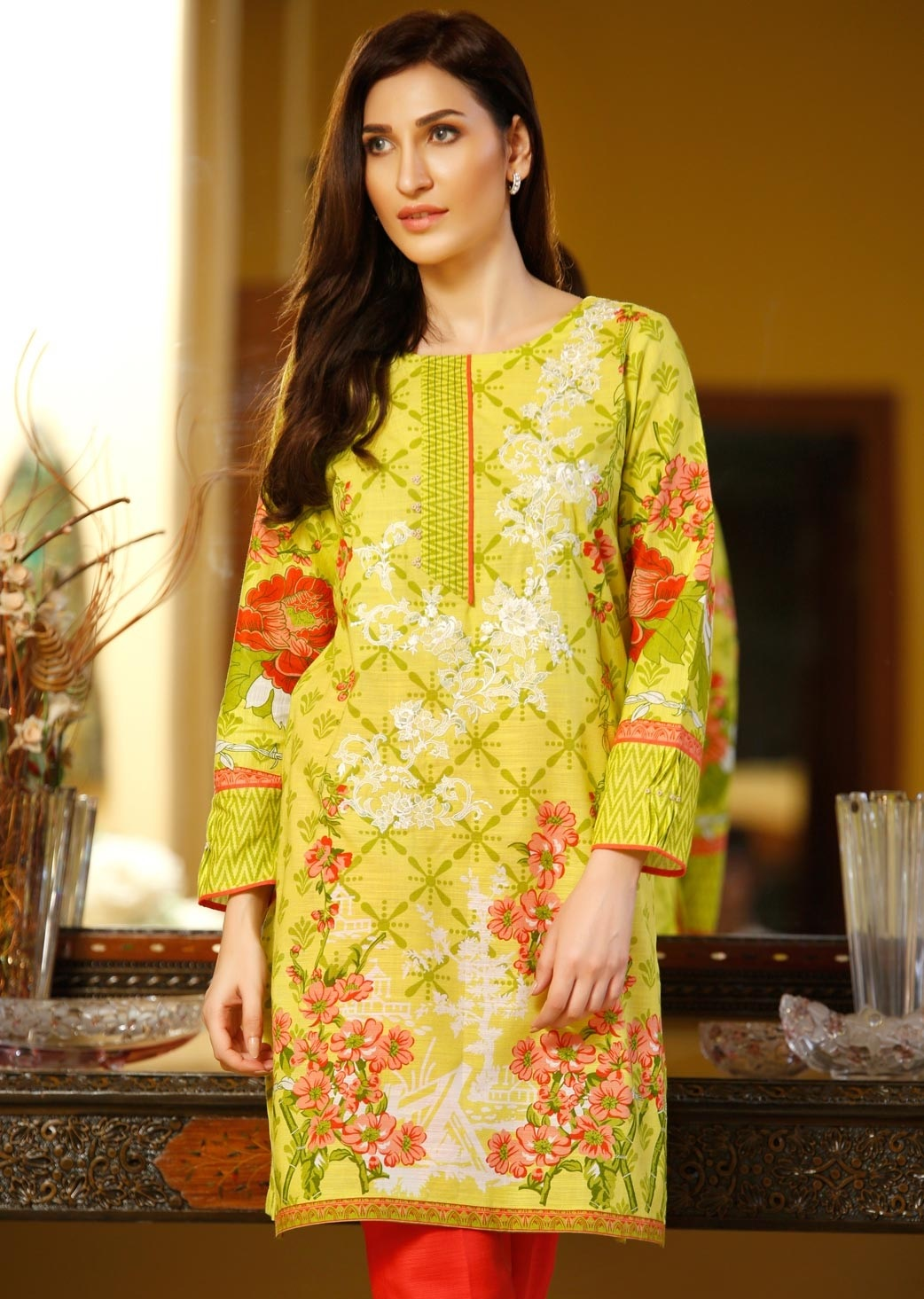 Auspicious Chinese cotton khaddar winter dress 2016