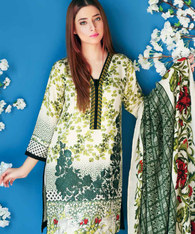 bottle green charizma shirt with embroidered gala and pashmina shawl