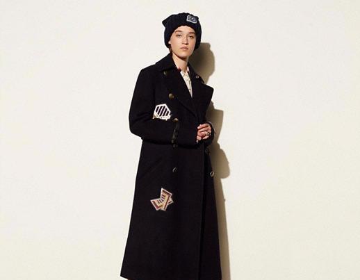 Coach Winter Naval Long Coat for girls