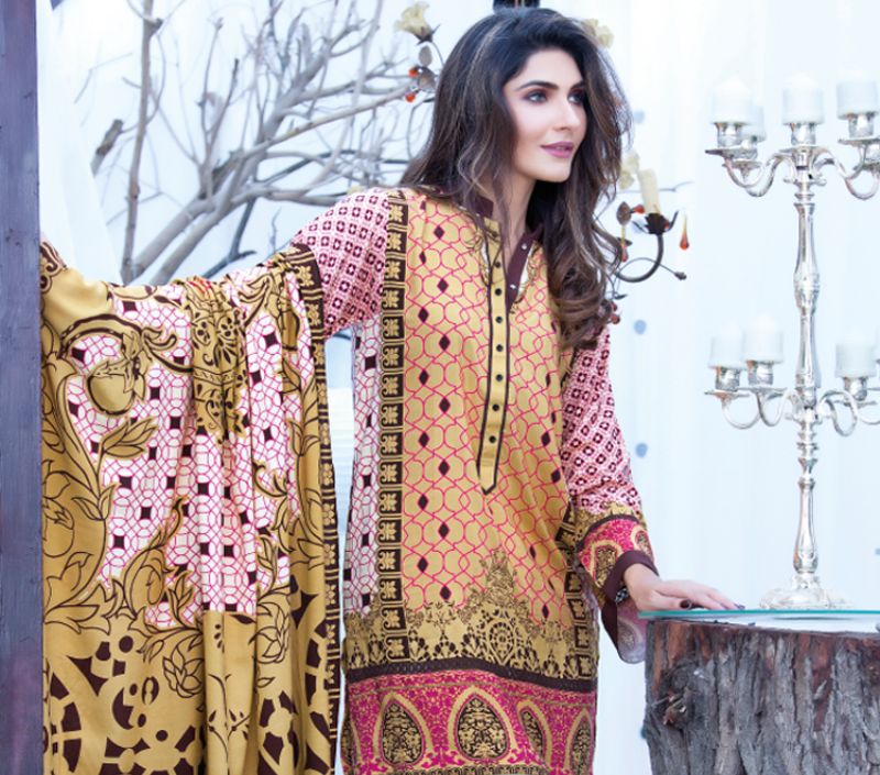 firdous korean linen winter dress 2017