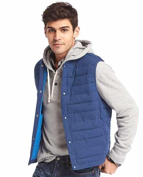 Gap blue puffer vest for men