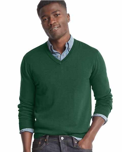 Merino V neck woollen sweater