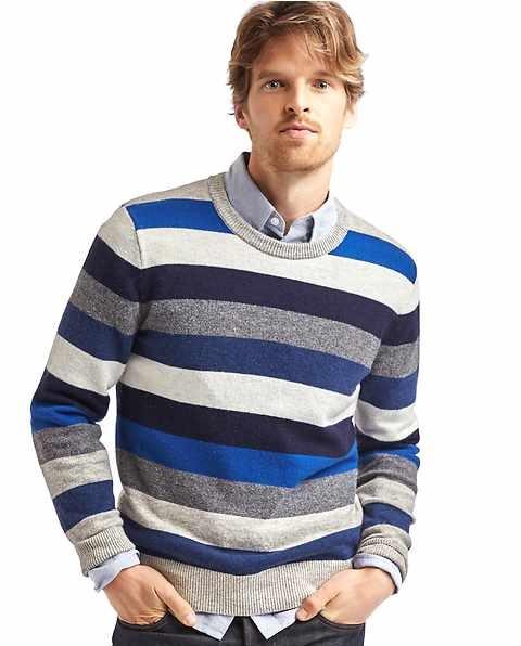 stripe wool blend sweater for men by Gap fall 2016