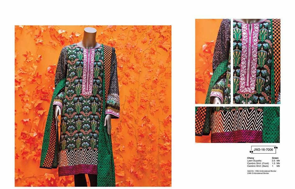 floral chevy winter dress by junaid jamshed