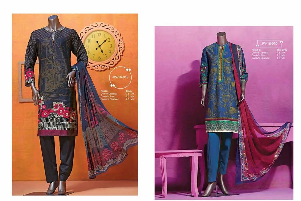 junaid jamshed winter cambric suits 2016-2017