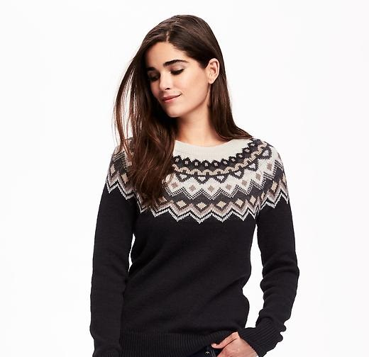 neutral fair isle by Old Navy Winter Collection 2016