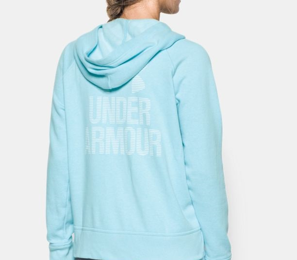 sky blue UA sportstyle favourite fleece for sports women