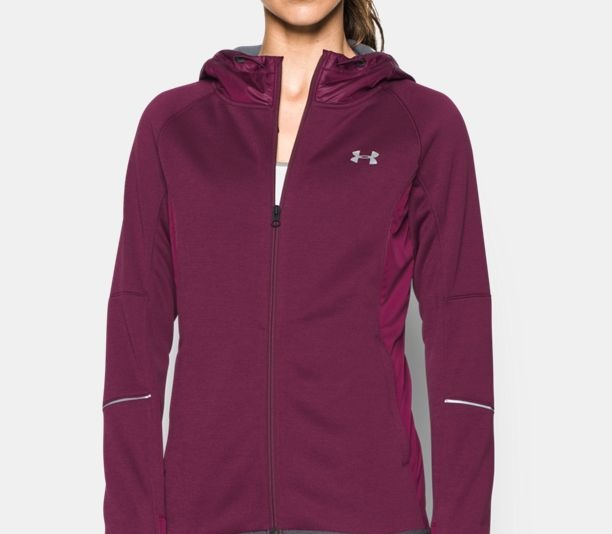 purple UA ColdGear Dobson Softer shell hoodie for sports girls