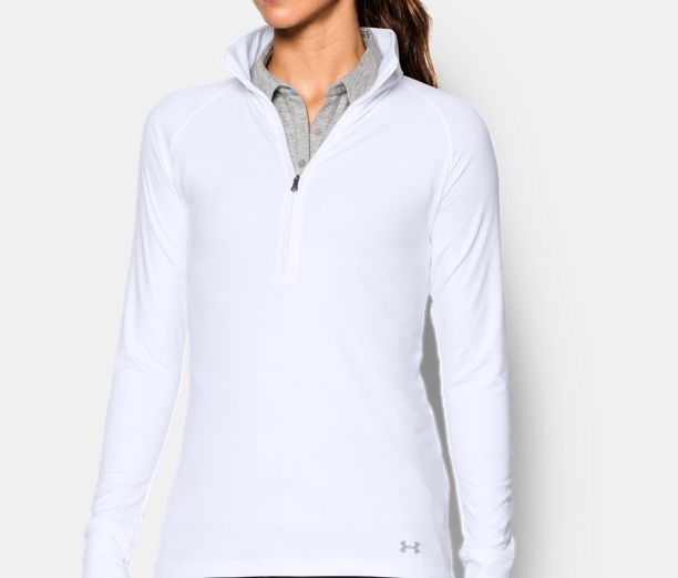 UA white Fleece shirt for cozy winters