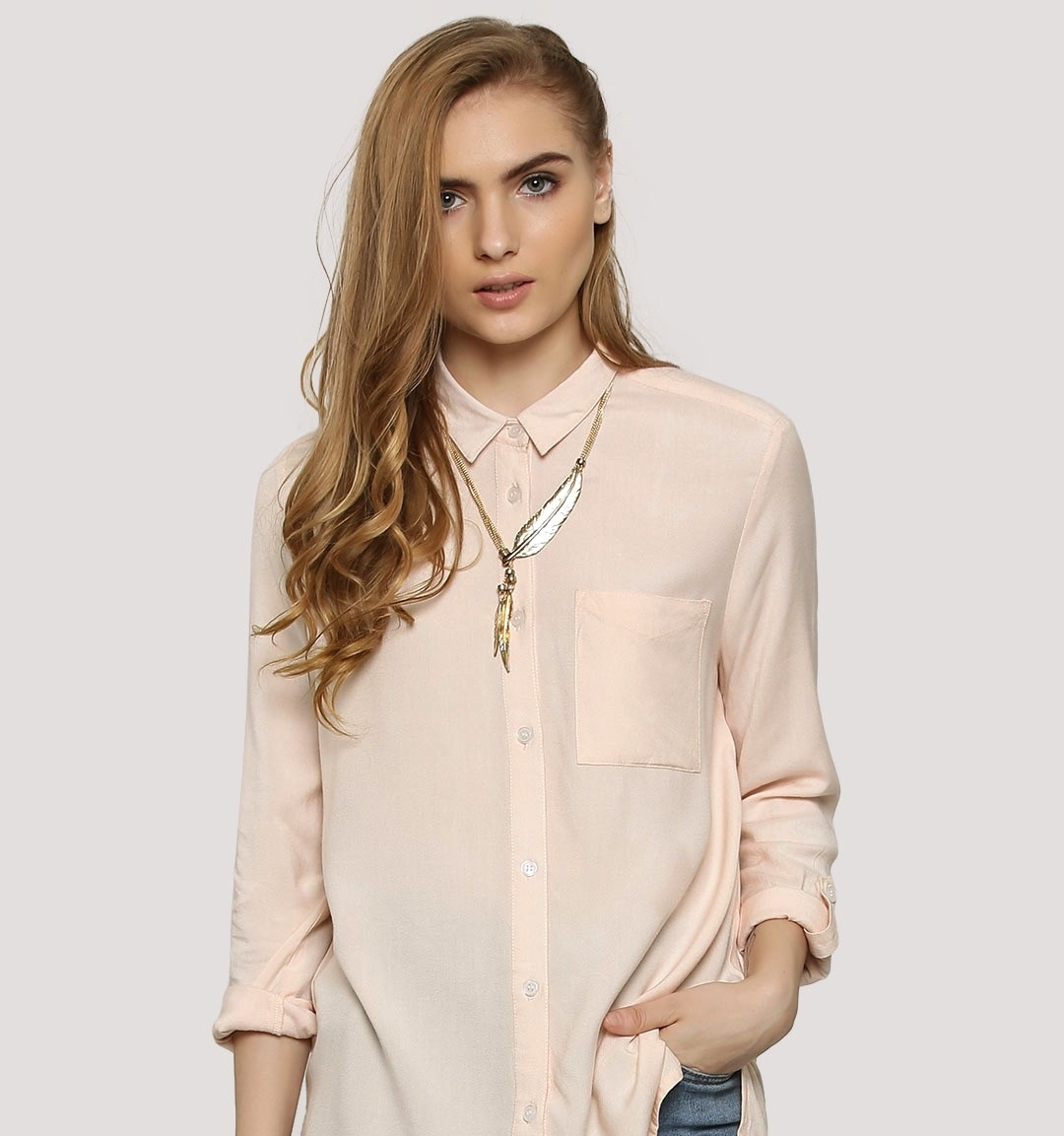 koovs RTW Collar shirt for winters