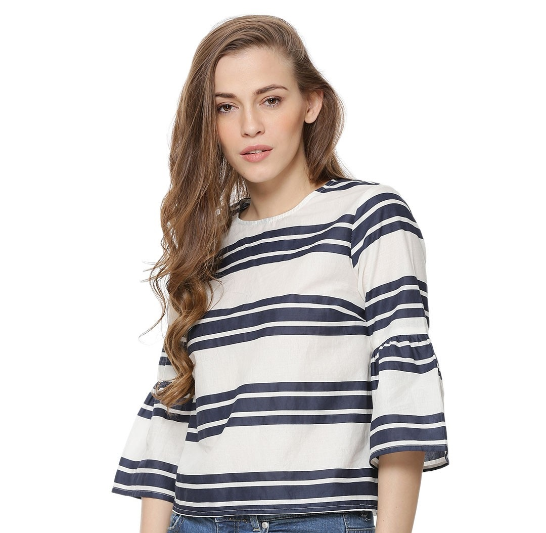 Koovs beautiful muilti-striped winter shirt