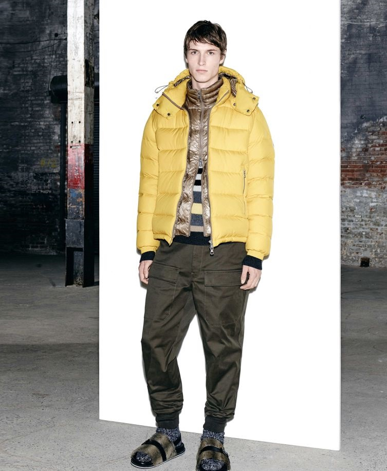 Moncler Autumn Winter warm yellow jacket