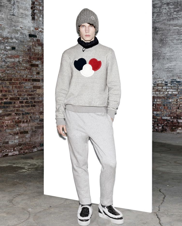 Moncler Autumn Winter sweatshirt with red, black and white patches