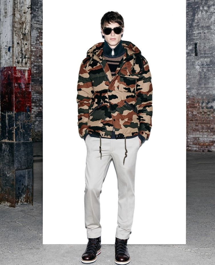 Military pattern winter jacket by Moncler