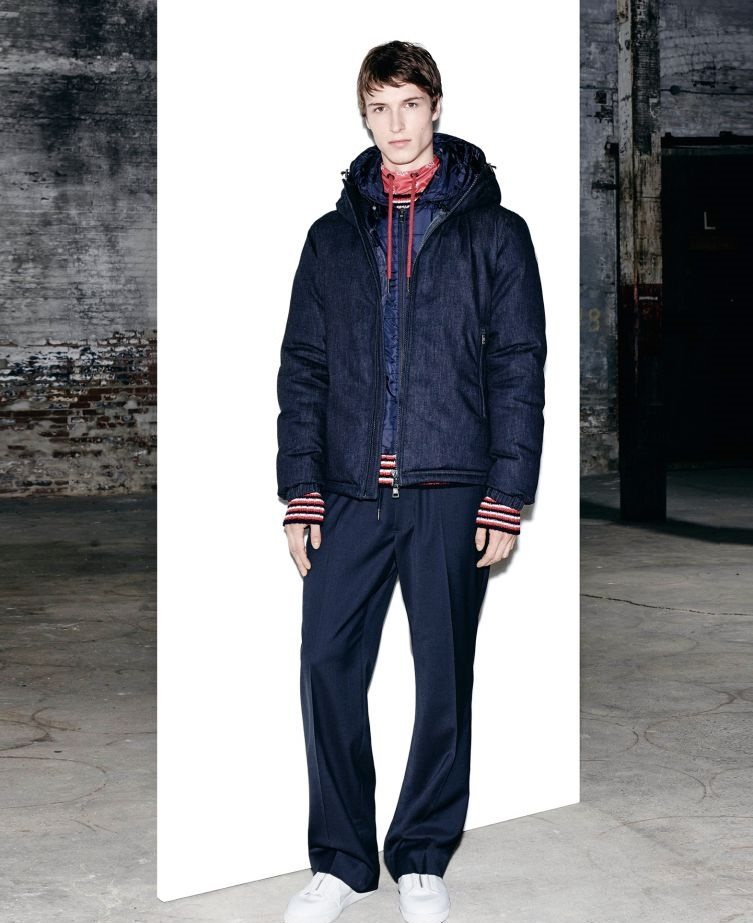 Moncler Winter front open hooded jacket