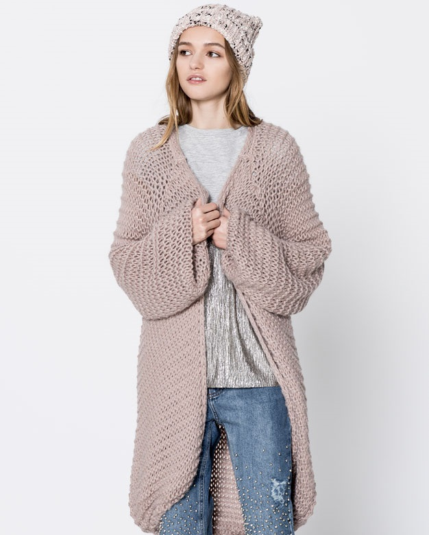 front open knit sweater for winter 2017-2018