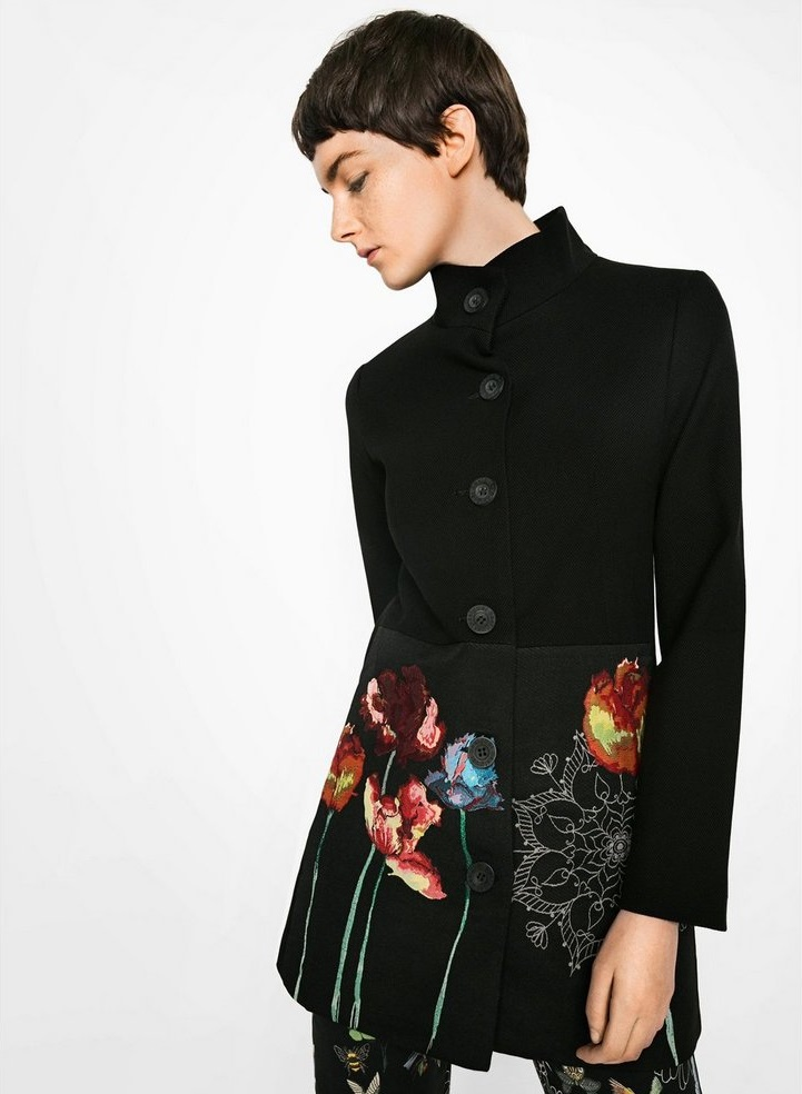 Desigaul Black Winter Joya Coat