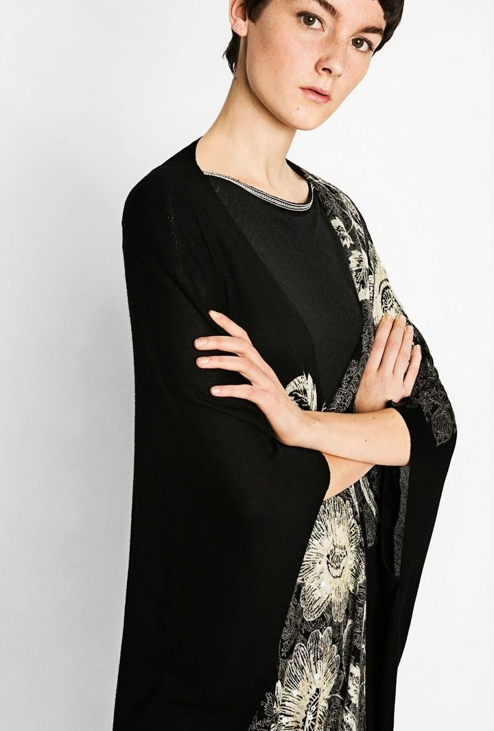 Desigaul Aless Winter Cardigan in black color