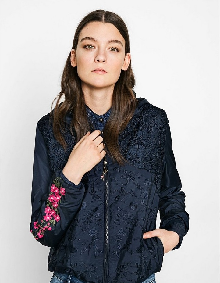 Desigaul Malgrat Jacket with floral patterns on sleeves