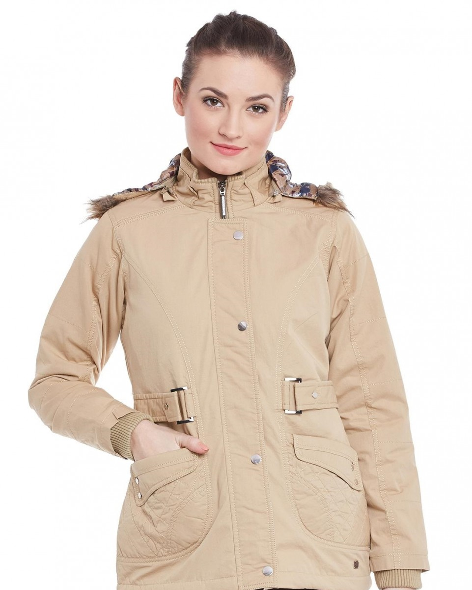 Monte Carlo winter camel solid jacket for women