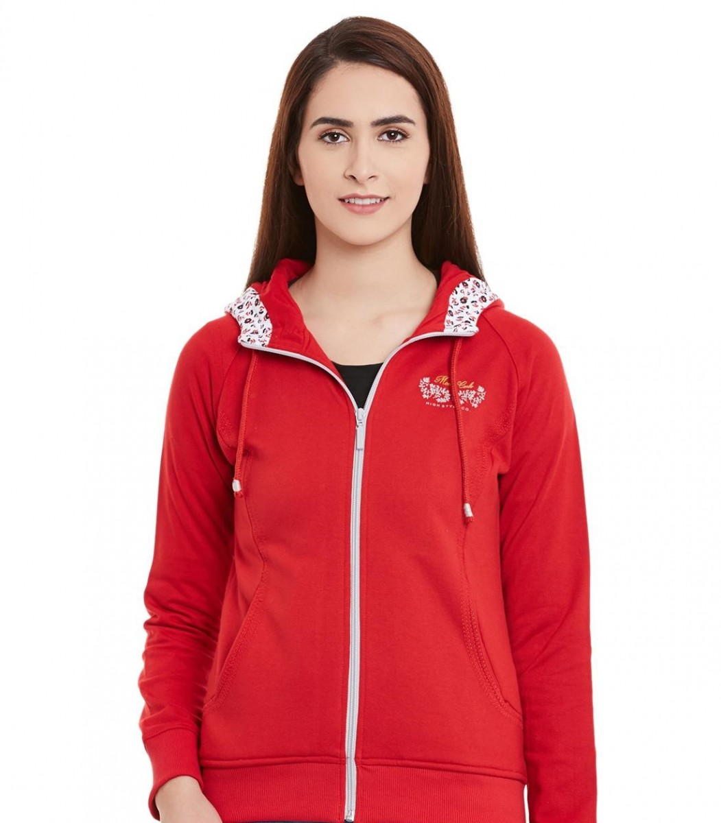 Monte Carlo Winter red printed sweatshirt for ladies