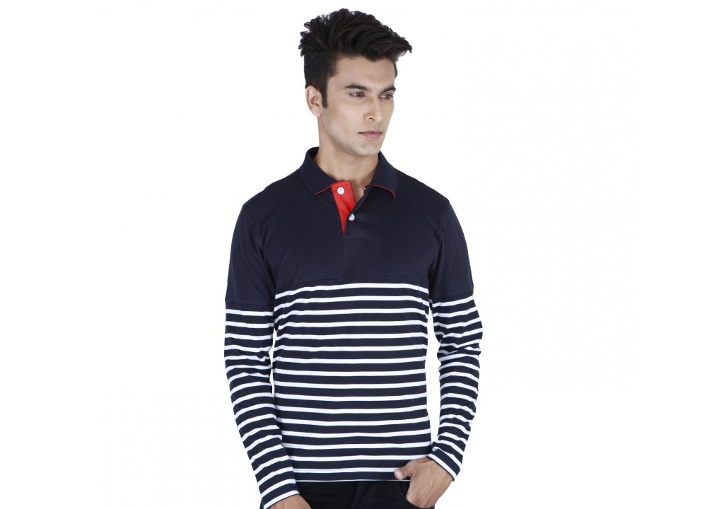 Provogue broad full sleeved winter shirt with white lines