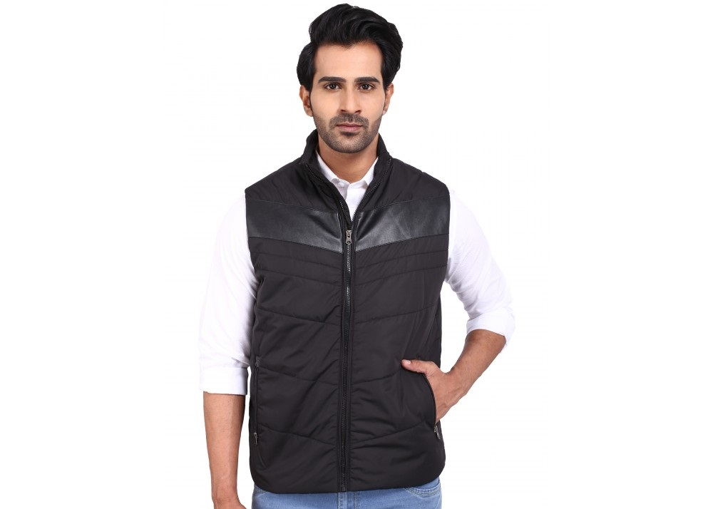 Provogue Black Marcus Sleeveless winter jacket for gents
