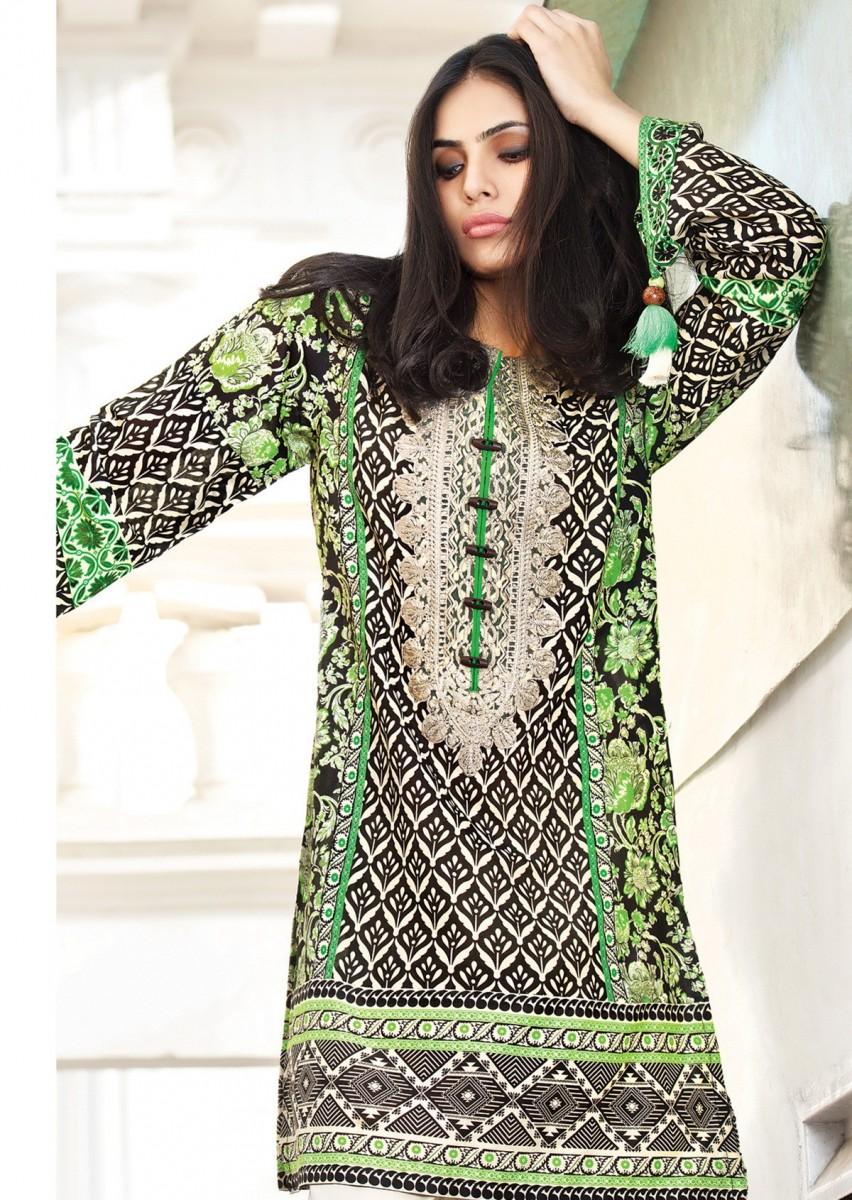 Shirt design 2017 female - Gul Ahmed Three Piece Lawn Summer 2017 Designs